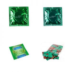 green-condoms
