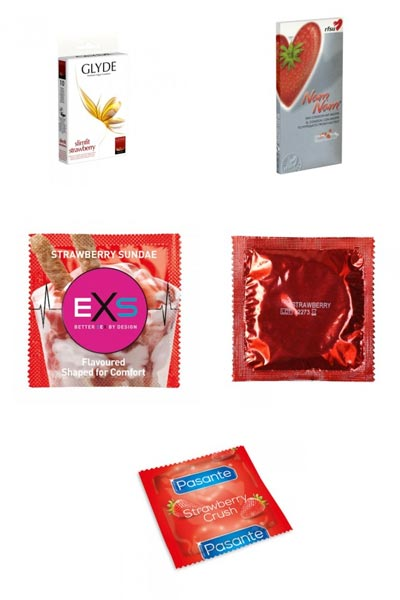 strawberry-flavoured-condoms