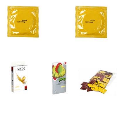 yellow-condoms